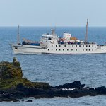 Scillonian III returning to Penzance from the Scillies