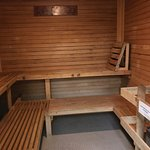 The men's sauna (accessed through the restroom/locker area)