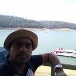 "Pyakara lake and the boat house ""in background"""
