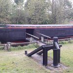 An old barge that one is able to walk into