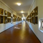 Corridor is filled with art