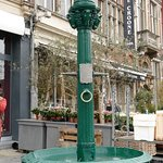 Water fountain by the side of the Market Square