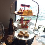 Afternoon Tea in the Club Lounge. Birthday greeting/goodies! View from our room!