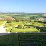 Une partie des jardins à la française
