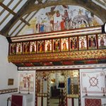 The rood screen and sanctuary