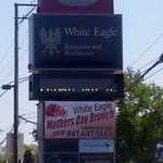 sign along Milwaukee Ave. for White Eagle