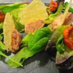 pate and parmesan shards