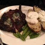 Mouthwatering ribeye with the sweetest snow peas