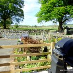 View from the Glamping Pod at Mosedale End Farm