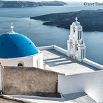 The most photographed iconic church in Santorini