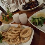 Fantastic mix of portuguese starters, including fried skid, cod fish cakes and mussels