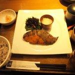 เซต ปลากระพงแดง (โอกิเมได) หมักโชยุโคจิย่างถ่าน
