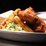 Fried Chicken and waffles with slaw