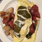 Omelet with green chilis