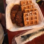 Chicken and waffle meal