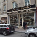 The beautiful frontage of A La reine Mathilde in Bayeux