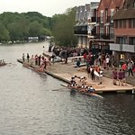 Eton College crew competition from the bridge