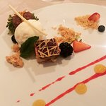 Pistachio mascarpone, compliments of the Ritz Carlton pastry team