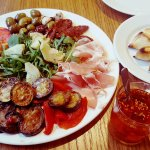 Antipasti platter to share (with meat). YUM!!!