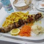 Mixed meat skewer.