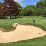 Beautifully maintained bunkers and greens.