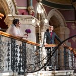 Our Wedding Photos on the amazing staircase!