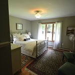 Room 1. Queen bed, walk in closet, main floor