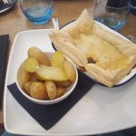Beef and Guinness Pie with garlic potatoes