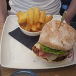 Chicken Burger with Triple cooked Chips