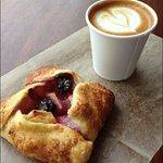 Fuit tart and an espresso macchiato are the perfect summer snack!