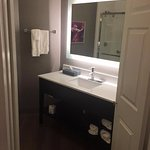 Newly renovate bathroom. New vanity and mirror!