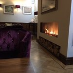 Cosy lounge fires in the bar area