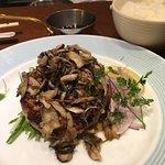 Pork burger with mushrooms - so yummy!