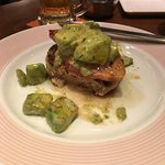 Pork and Beef mix burger with avacado