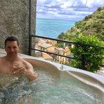 La Toretta terrace hot tub!