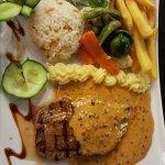 main of peppered steak