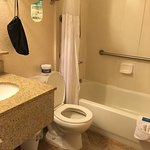 Small bathroom; but clean and efficient in 2 bedroom suite