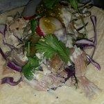 the famous mojito pork burrito at agave...sloppy...fell apart, bland mojo port, cold tortilla.