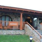 entrada al balneario/spa