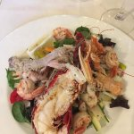 Mixed seafood and salad