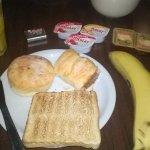 sem muitas opções no café da manhã