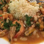 Sea food and rice