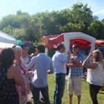 BBQ party with marquee's, DJ and bouncy castles.