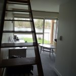 L'escalier qui monte à la mezzanine (chambre 9)