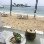 view from the Vegetarian Bar looking out at the private Isle ... The little details make this pl