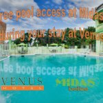 Free pool access at Midas Belize when you stay at Venus, only a 7 minute walk away