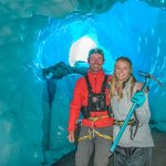 Meg and our guide Ant in a Glacier Cave!
