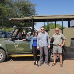 Gert, and us by the safari jeep!