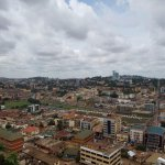 Bird's eye view of Kampala from the top of the Mosque tower