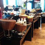 part of the breakfast bar